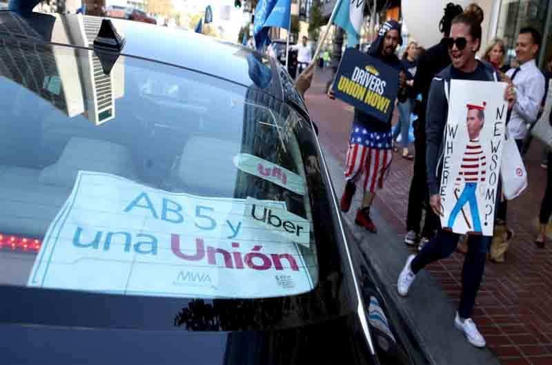 La nueva Ley de California dirá quién es un empleado en Uber