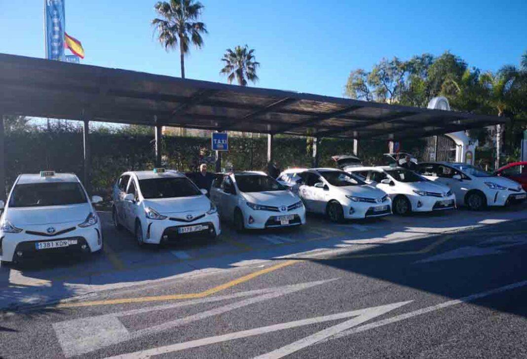 Los taxistas de Mijas inician la campaña