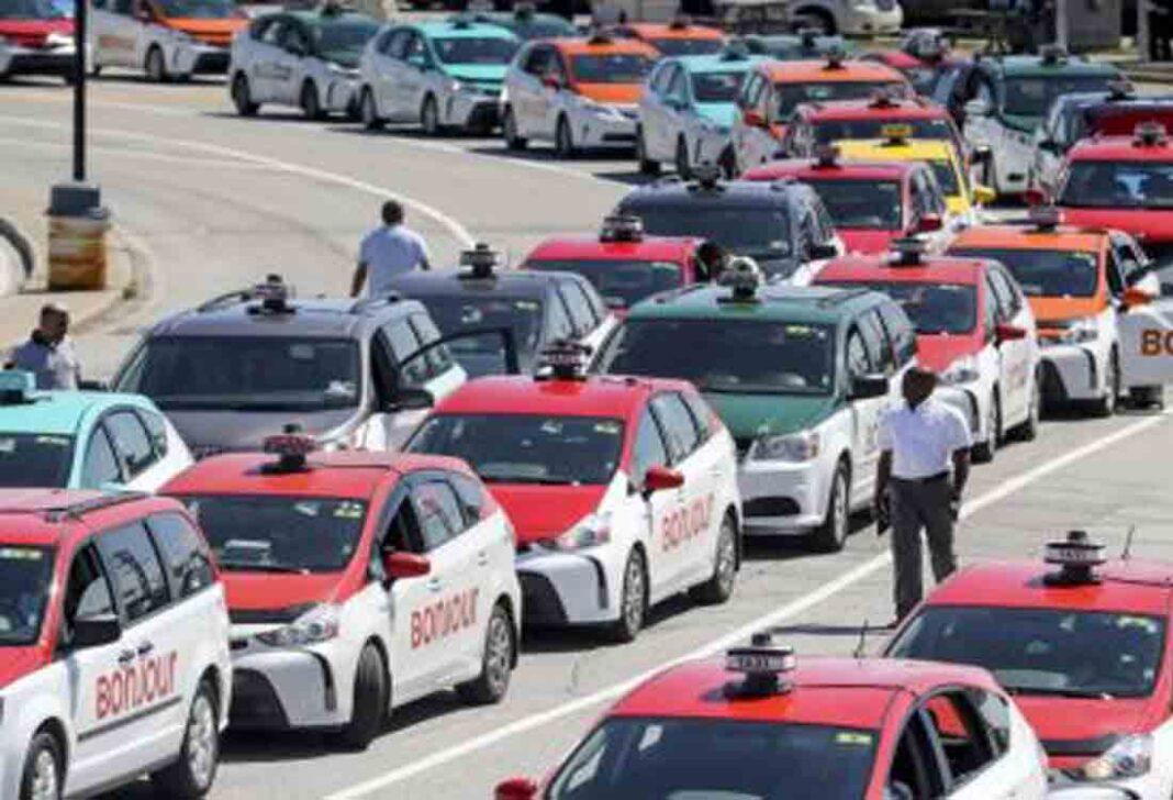 Los taxistas de Montreal protestan ante el Casino