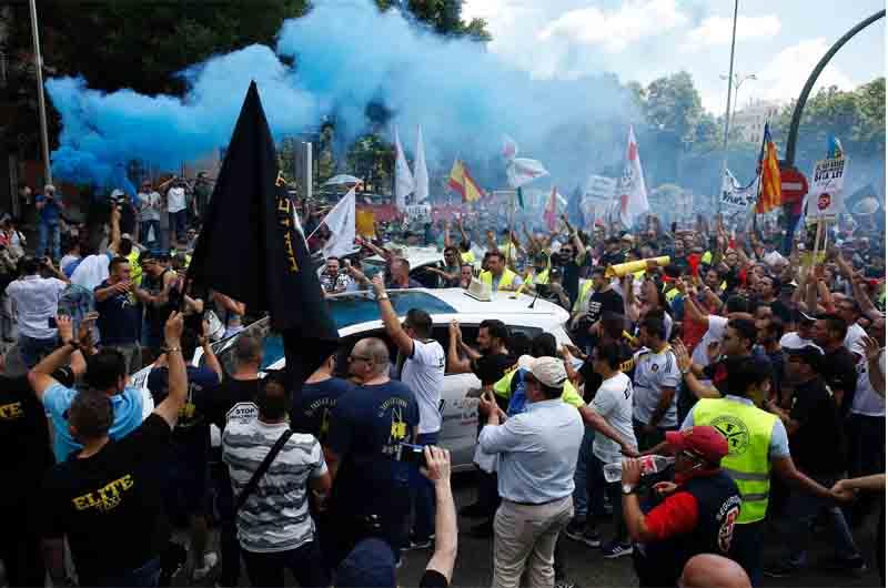 Anti-Uber en el mundo - Todas las protestas en imágenes