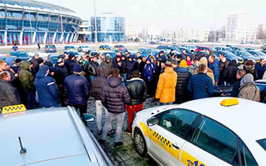 Huelga de los taxistas en Bielorrusia