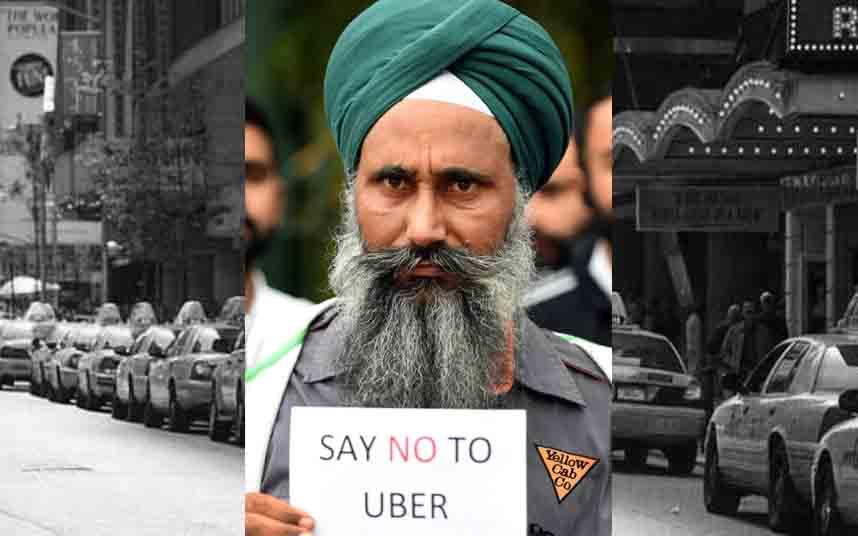 Los taxistas de Australia protestan contra Uber en Queensland