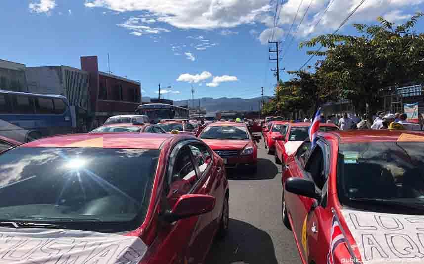 El taxi de Costa Rica se vuelve a manifiestar contra Uber en San José