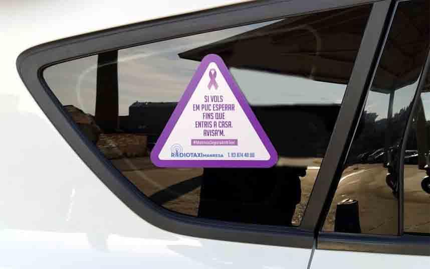 El taxi de Manresa inicia una campaña contra las agresiones sexuales