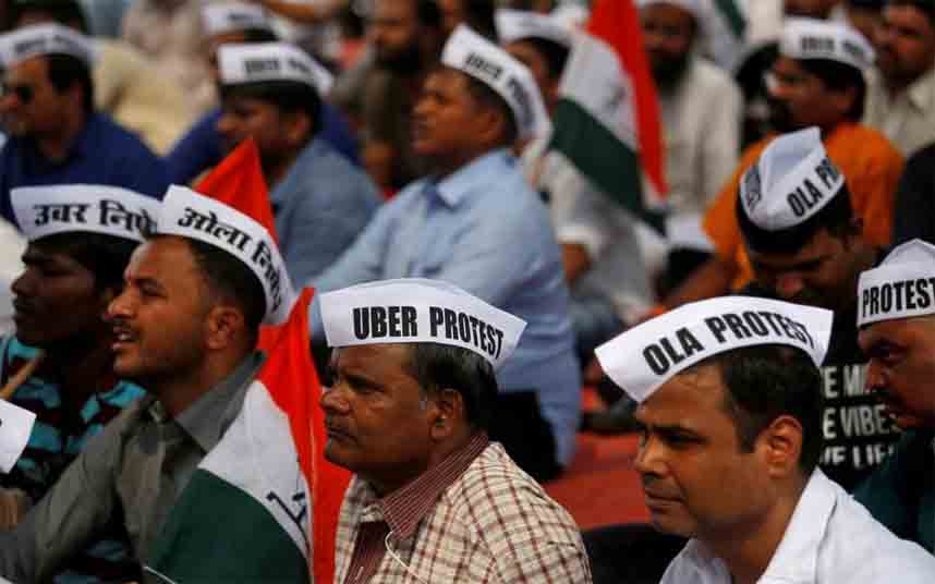 India quiere reducir las comisiones que Uber cobra a sus conductores