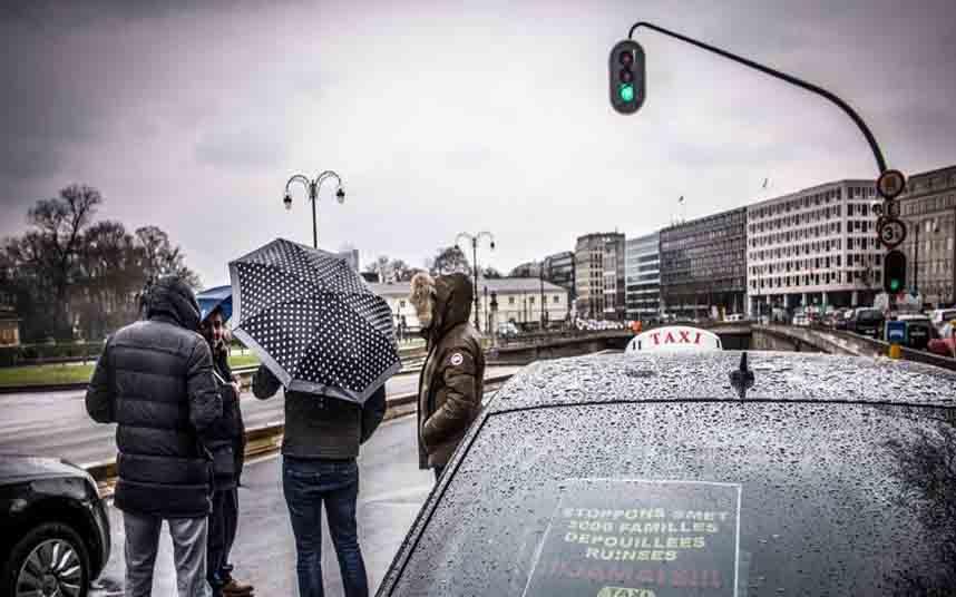 Los taxistas belgas convocan una nueva huelga en Bruselas