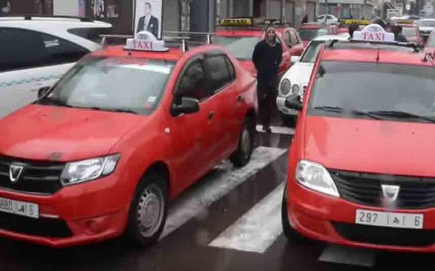 Los taxistas de Casablanca protestan contra Uber y Careem