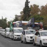 Los taxistas sevillanos están hartos de la Junta de Andalucía