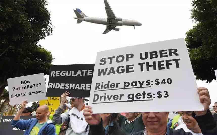 Mas de 96.000 conductores de Uber protestan por las ganancias