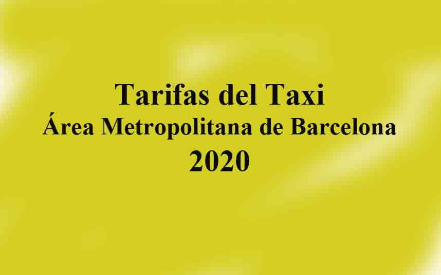 Nuevas tarifas del taxi de Barcelona para 2020
