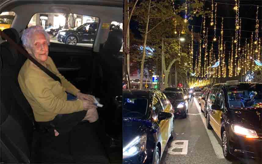 Los mayores de las residencias de Barcelona salen de paseo con Élite Taxi