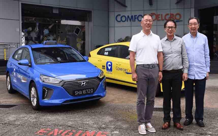 Singapur renovará su flota con 2000 taxis híbridos Ioniq