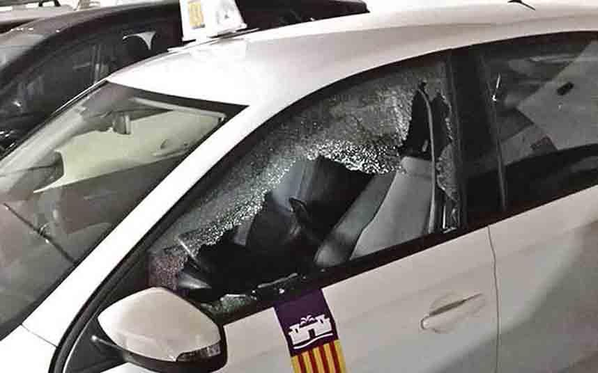 Vuelven los ataques a los taxis de Palma