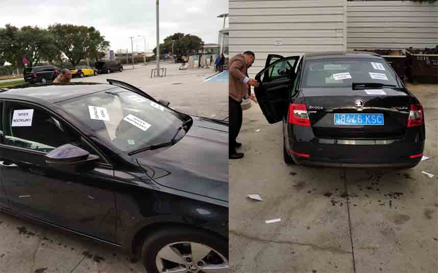 Los taxistas de Barcelona pararán el MWC si no se aplica la ley a Cabify