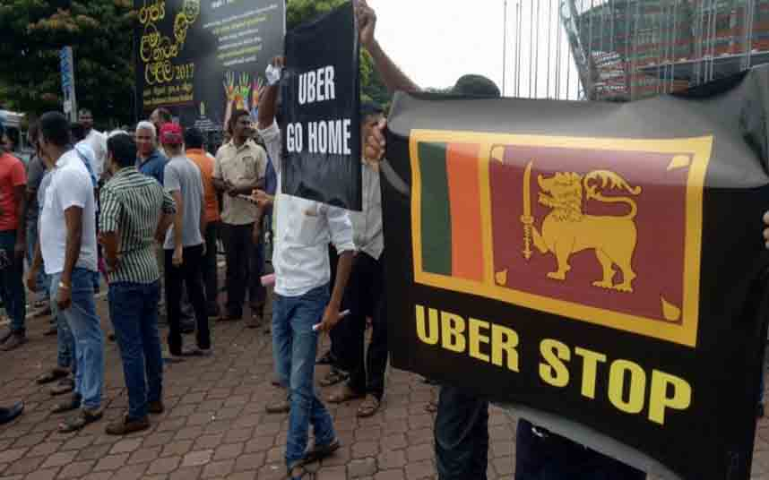 Los taxistas de la India contra Uber en Sri Lanka