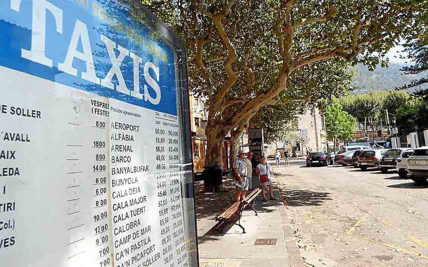 Sóller (Mallorca) sacará a subasta tres nuevas licencias temporales de taxi