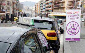 Los taxistas de Santa Coloma (Barcelona) se implican contra la violencia machista
