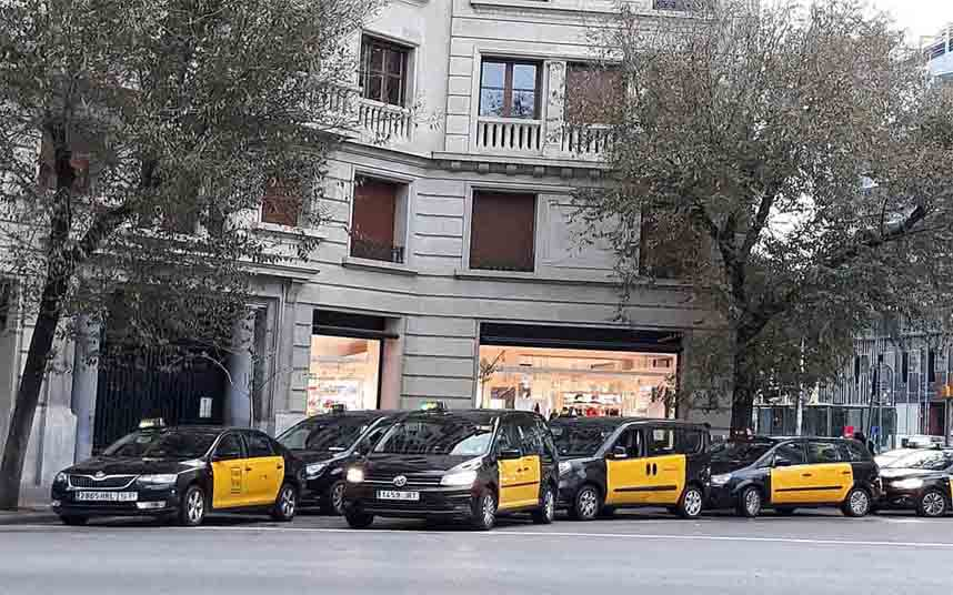 Paradas de Taxi en Barcelona