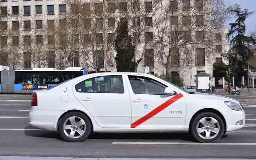 El taxi de Madrid registra una caída del 80 por ciento