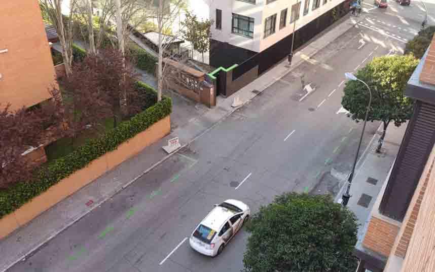 El taxi reduce su flota en las calles por la crisis del coronavirus
