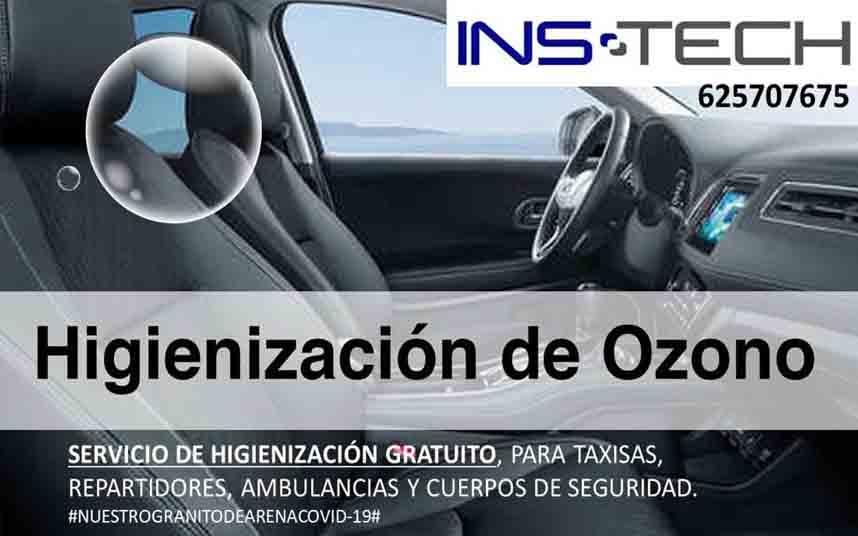 La empresa InsTech en Barcelona realiza gratis higienización con Ozono a los taxis