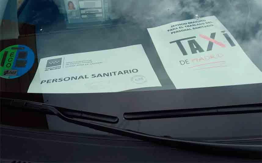 Los taxistas de Madrid rechazan 132.000 euros de la CAM y piden que se destinen a Sanidad
