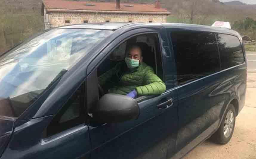 Los taxistas de la Montaña Alavesa hacen viajes gratis para colectivos vulnerables