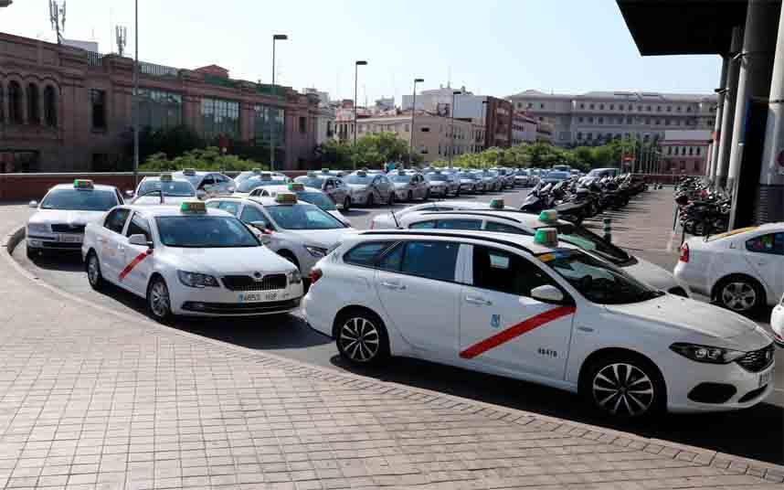 Modificación de los servicios de taxi en Madrid frente al coronavirus