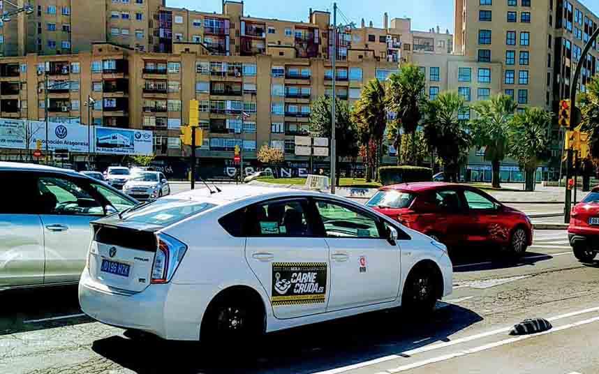 Modificación de los servicios de taxi en Zaragoza frente al coronavirus