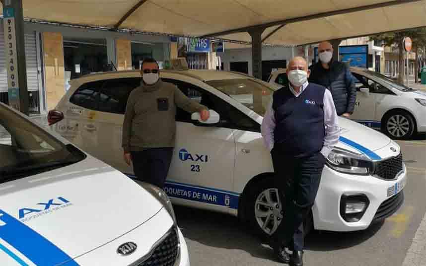 Roquetas de Mar reduce la flota de taxis al 50% por la crisis del coronavirus