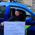 Cientos de taxistas de Dublín protestan ante las oficinas de Free Now