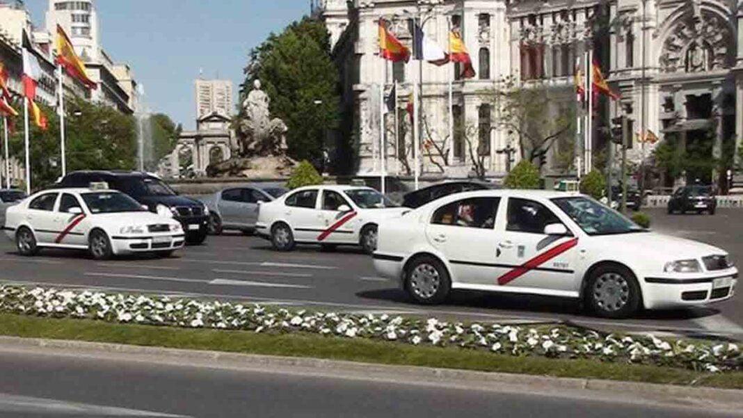 Concentración del taxi en Madrid