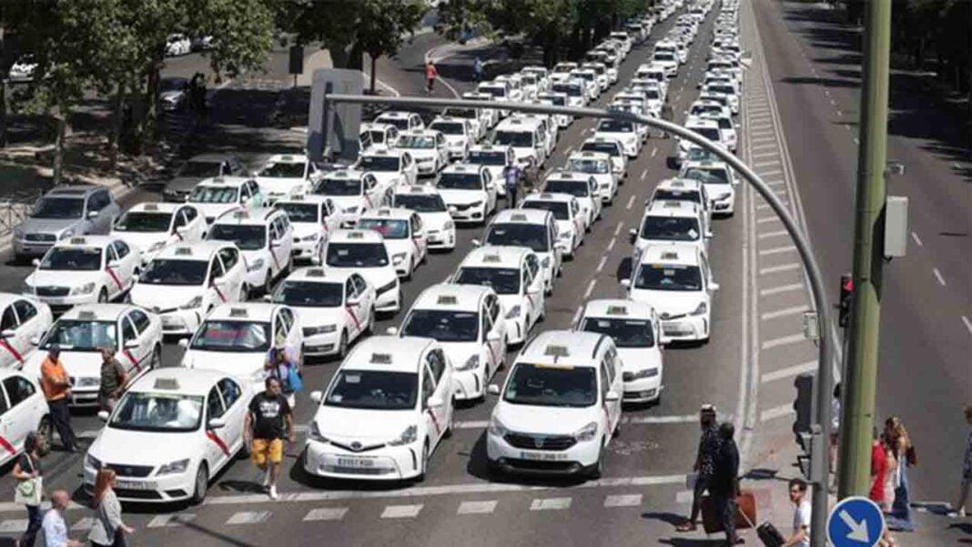 Lucha del taxi en Madrid: