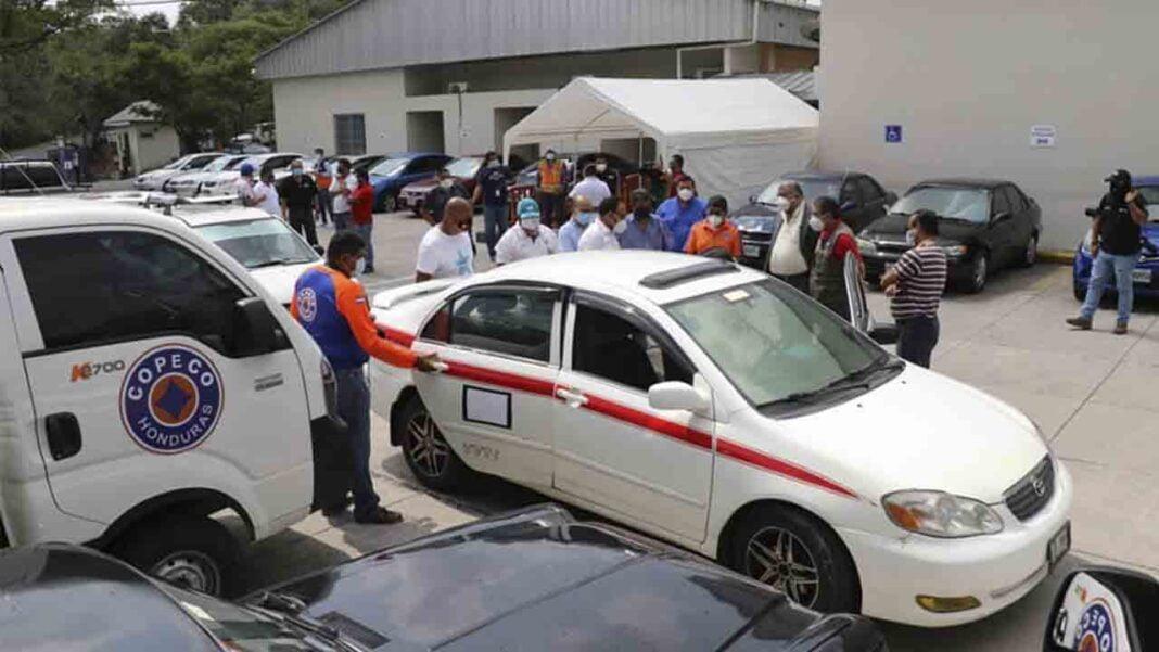 Taxistas Comayagua Honduras