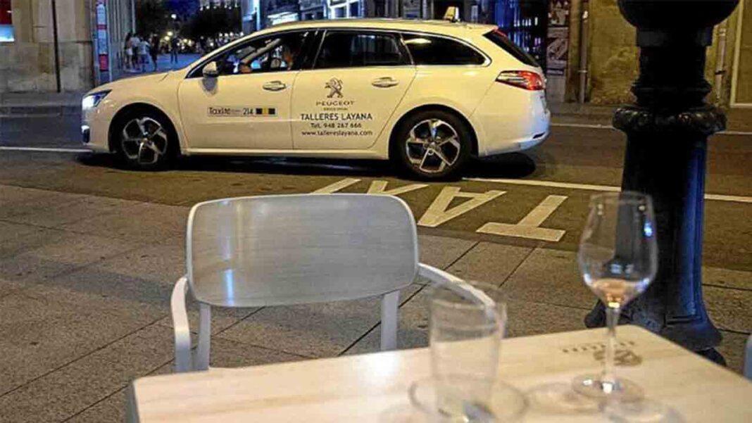 Cae aún más la facturación del taxi de Pamplona por el cierre nocturno