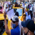 Protesta de los taxistas de Nueva York para exigir condonación de parte de la deuda