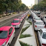 Nueva protesta de los taxistas en Ciudad de México contra Uber y Cabify