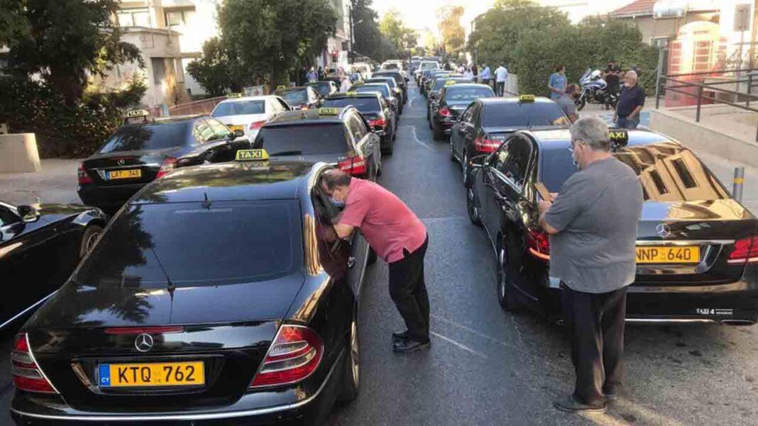 Chipre: Movilizaciones del sector del taxi en Nicosia ante la falta de ayudas