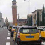 El taxi de Barcelona ha vuelto a las movilizaciones en su quinto día de lucha
