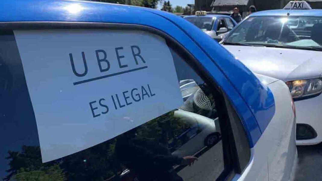 Los taxistas argentinos se manifiestan en Bariloche contra la llegada de Uber