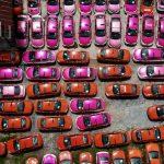 Miles de taxis duermen 24 horas en Bangkok debido a la pandemia